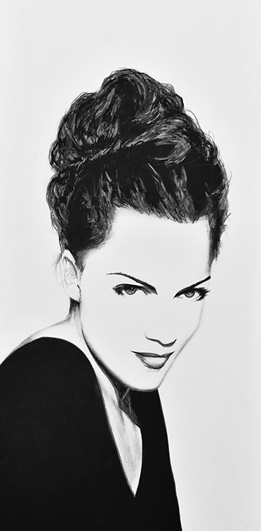 Portrait Drawing of Elodie 1