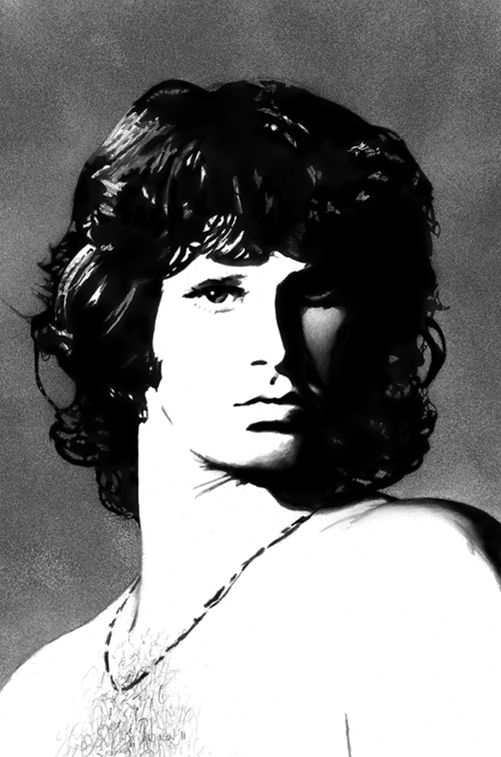 Portrait Drawing of Jim Morrison
