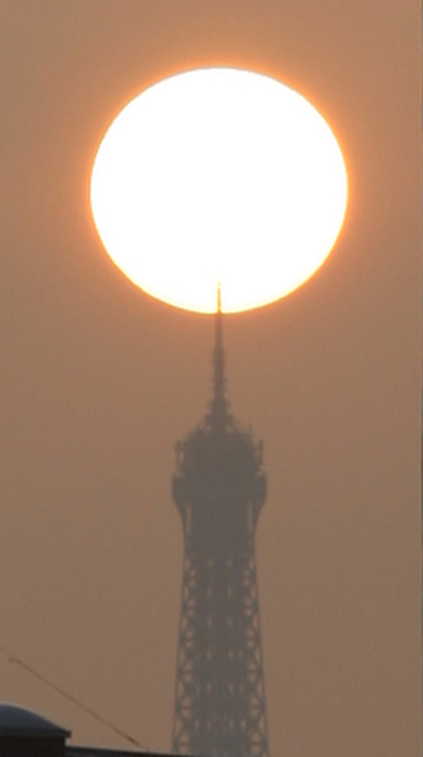 Misc. Photography of Eiffel Tower Sunset