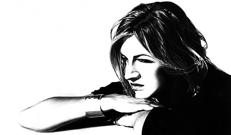 Portrait Drawing of Sandrine 1