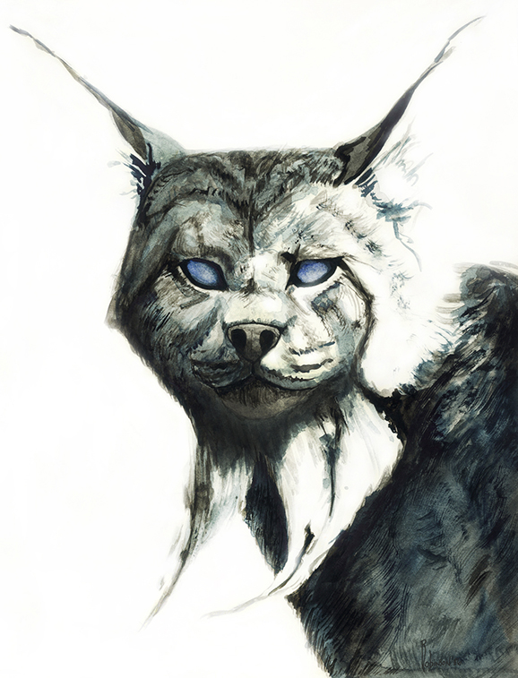 Portrait Painting of Lynx