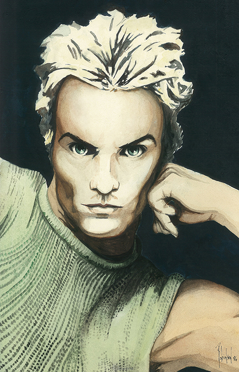 Portrait Painting of Sting